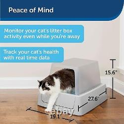 ScoopFree Smart Automatic Self Cleaning Cat Litter Box, Smart Phone App Connected