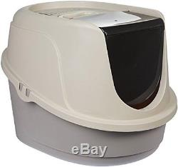 Self Cleaning Automatic Cat Litter Box Pet Toilet Roll Clean Kitty Pewter Scoop