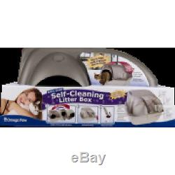 Self Cleaning Automatic Cat Litter Box Regular Roll'n Kitty Pewter Scoop Plastic