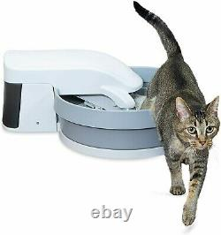 Self Cleaning Cat Litter Box Automatic Touchless Waste Bin Pan Kitty Filter Cup