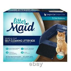 Single Cat Self Cleaning Cat Litter Box Automatic Scooping Comfortable High Wall