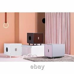 Staart - Dyad Wooden Cat Litter Box Enclosure and Furniture Side End Table C