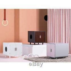 Stylish And Practical Crafted Rounded Corners Wooden Cat Litter Box in 3 Colours