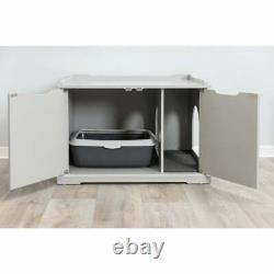 TRIXIE XL Wooden Cat House Or Litter Box Enclosure, Gray