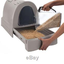 TReNDy Cat Litter Tray Hooded Cat Toilet AVOID UNPLEASANT ODOURS Easy to Clean