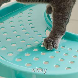 Top Entry Cat Litter Box With Scoop Covered Pan Kitty Tray Pet Toilet Plastic L