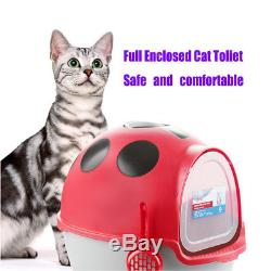 Totally Closed Cat Toliet Bedpan Large Space Litter Box Pet Kitty Beatles Shape
