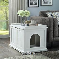 UniPaws Designer Cat Washroom Storage Bench Litter Box Cover Wooden Cat Ho