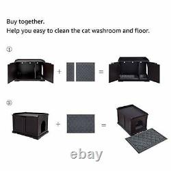 Unipaws Cat Litter Box Enclosure, Litter Tray Cover, Washroom Storage Bench
