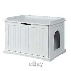 Unipaws Cat Litter Box Enclosure, Litter Tray Cover, Washroom Storage Bench, Cat