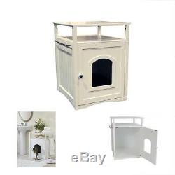 WHITE Merry Casual Canine Cat Washroom-Nightstand Pet House DOG CAT