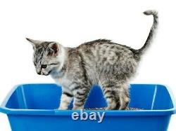 Whitefurze Large Medium Plastic Silver Red Teal Blue Dog Cat Pet Litter Tray