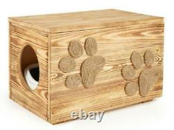 Wooden Cat Litter Box, Large Indoor Hidden Toilet For Cats, With Cat Litter Tray