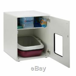 Wooden Cat Litter Cupboard Multi Purpose Storage Litter Tray NOT Included